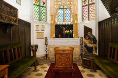 Chapel and altar in castle Royalty Free Stock Image