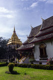 Chapel and Ancient temple with Beauty sky, Wat Chiang Man in Chiangmai Stock Image