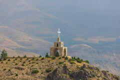 Free Chapel And Cross In The Mountains In Lebanon Stock Image - 192797141