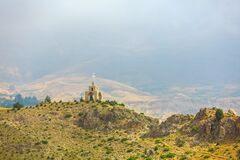 Free Chapel And Cross In The Mountains In Lebanon Royalty Free Stock Images - 195703229