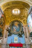 Chapel of the Annunciation designed by Gian Lorenzo Bernini, in the Basilica of Saint Lawrence in Lucina in Rome, Italy. stock images