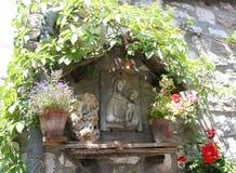 Chapel/Assisi van het venster Stock Afbeelding