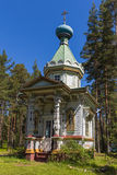 Chapel. Of the Assumption of the Mother of God . Island Konevets, Ladoga lake, Russia Stock Photo