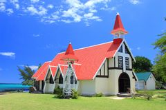 Chapel At Cap Malheureux, Mauritius Royalty Free Stock Photo