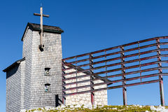 Free Chapel At The Dachstein On The Path To The Five Fingers Viewing Platform Royalty Free Stock Photography - 59027137