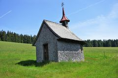 Small chapel in the Austrian Alps stock photo