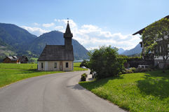 Chapel in the Austrian mountain village. Austria Stock Photos