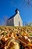 Chapel in autumn on Medvednica mountain Stock Photo