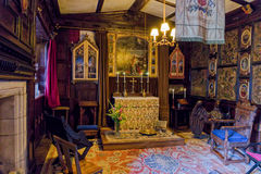 The Chapel, Baddesley Clinton Manor House, Warwickshire. royalty free stock photography
