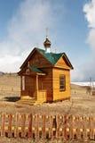 Chapel on the bank of Baikal Stock Image