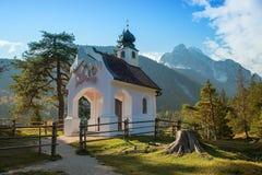 Chapel in the bavarian alps Royalty Free Stock Photo