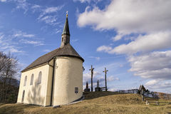 Chapel in Bavarian Alps Royalty Free Stock Image