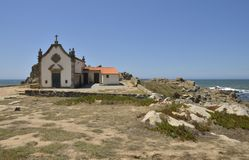 Chapel in the beach Stock Image