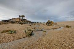Chapel on the beach near Porto, Portugal Royalty Free Stock Image