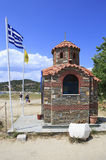 Chapel on the beach in Ouranoupoli Stock Photos