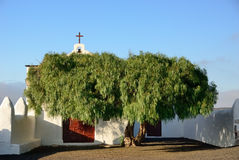 Chapel. Beautiful Chapel In Wine Area La Geria, Lanzarote Stock Photography