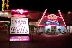 Chapel of the Bells Las Vegas. Las Vegas, USA - August 26, 2009: Chapel of the Bells in Las Vegas is a wedding chapel and has been in business over 50 years Royalty Free Stock Images