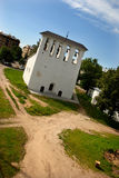 Chapel-belltower. Small chapel-belltower on river bank Great in the city of Pskov Stock Photos