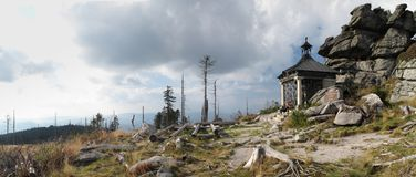 Chapel below summit of Hochstein Stock Photography