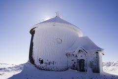 Chapel during blizzard Stock Photos