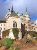 Chapel of Bojnice castle in autumn royalty free stock photo