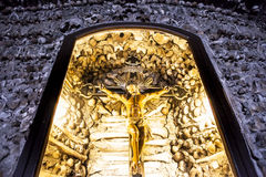 Chapel of bones crucifix Royalty Free Stock Photos