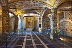 Chapel of Bones, Evora, Portugal Stock Photos