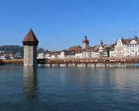Chapel Bridge. Beautiful bridge in Lucerne Royalty Free Stock Image