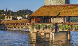 Chapel bridge or Kapellbrucke, Lucerne Royalty Free Stock Photography
