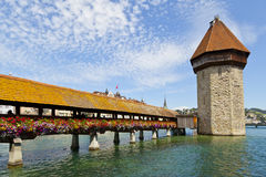 The Chapel Bridge, Lucerne Stock Photos