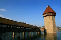 Chapel Bridge, Lucerne Royalty Free Stock Images