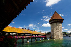 Chapel Bridge in Lucerne Stock Photos