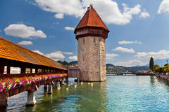 The Chapel bridge, Lucerne Royalty Free Stock Images
