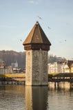 Chapel-bridge in Lucerne Stock Photo