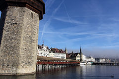 The Chapel bridge in Lucerne Royalty Free Stock Image