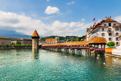 Chapel Bridge in Lucerne Royalty Free Stock Images