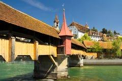 Chapel Bridge in Lucerne Stock Photo