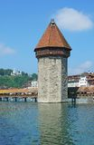 Chapel Bridge,Lucerne,Lake Lucerne,Switzerland Stock Photography