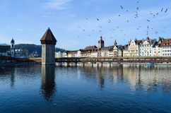 Chapel-bridge in Lucerne Stock Photos