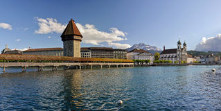 Chapel bridge. Lucerne, Switzerland. Royalty Free Stock Photos
