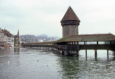 Chapel Bridge, Lucerne Stock Photography