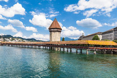 The chapel bridge in Lucerne Stock Photo