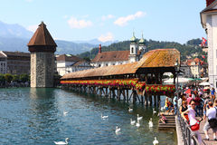 Chapel Bridge in Lucerne Royalty Free Stock Photo