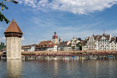 Chapel Bridge Lucerne Switzerland Stock Image