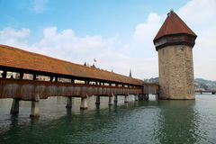 Chapel bridge in Lucerne(Switzerland) Stock Photo