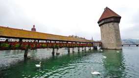 Chapel Bridge in Lucerne, Switzerland Royalty Free Stock Photo
