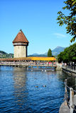 Chapel Bridge, Lucerne, Switzerland Royalty Free Stock Photography