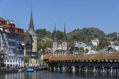 Chapel Bridge - Lucerne - Switzerland Stock Photo
