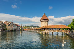 Chapel Bridge, Lucerne, Switzerland Royalty Free Stock Photos