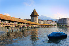 Chapel Bridge, Lucerne, Switzerland Stock Image